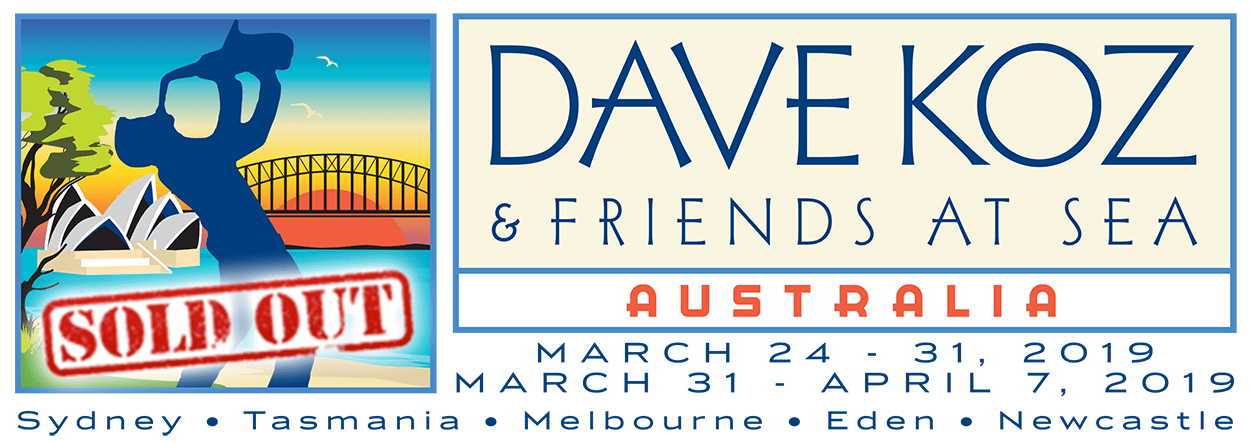 2019 Dave Koz and Friends at Sea Cruise Voyage One - Voyage Two Logo Sold Out